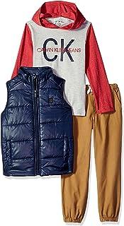 Calvin Klein 卡尔文·克莱恩 小男童 3件装 背心连帽T恤裤子套装