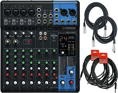 雅马哈 MG10XU 10 输入立体声混合器(带压缩、效果和 USB)w/2 XL