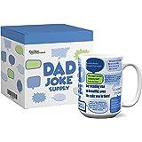 趣味咖啡杯 - Mom Wisdom Supply - 母亲节、生日、圣诞节、女儿、儿子和丈夫的*佳礼物。 漂亮的盒子,新颖,瓷色,311.84 g Dad 11 oz unknown