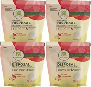 Grab Green Garbage Disposal 清新剂和清洁剂 红梨和木兰 12 Pods, 5.9 Ounce (Pack of 4) 23.6