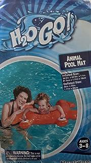 H2OGo 彩色充气龙虾游泳泳池浮垫 适合年龄 3-8 岁 - 34.5 英寸 x 43.5 英寸 x 7.1 英寸