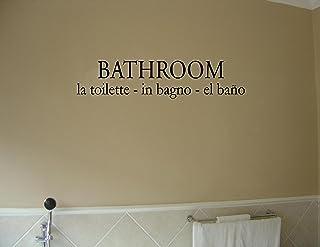 BATHROOM LA TOILETTE IN BAGNO EL BANO 乙烯基墙字母贴纸 引言.