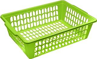 YBM HOME 小型塑料篮纸整理盒和信件托盘,可放置文件、A4纸和信件、家庭和办公室储物箱 * 32-1194-green