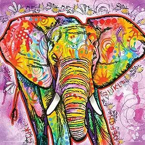 Dean Russo 大象现代动物装饰艺术海报印刷品 多种颜色 12x12 Unframed TTS001