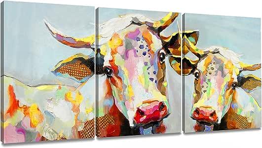 Decor MI 画印在画布上 多彩墙壁艺术墙饰 艺术品 拉伸和加框 可直接悬挂 ?-
