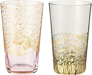 Toyo Sasaki Glass 江户玻璃 金箔玻璃 玻璃杯 日本制造 ピンク・グレー 100ml G641-T82