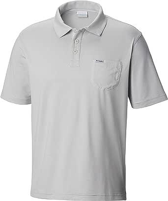 Columbia 男士 PFG Slack Tide 口袋 Polo 衫 中 黑色 1831771-019-Medium