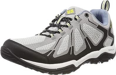 Columbia 女士 Peakfreak XCRSN II XCEL 低帮徒步靴(灰色冰色,酸黄色 063),3 英码 36 欧码