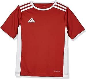 adidas 儿童 Entrada 18 球衣,红色/白色,164