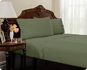 MASTERTEX 刺绣舒适床单套装来自 REVERSIFI 系列。 油绿色 全部 COMINHKR064525