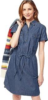 Pendleton 女士缝线条纹连衣裙