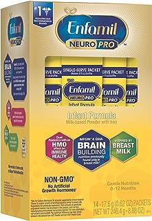 Mead Johnson 美赞臣 NeuroPro 婴儿配方奶粉,MFGM、欧米茄3 DHA、益生菌、铁和提高免疫力,0.6盎司/17.6克,14包装