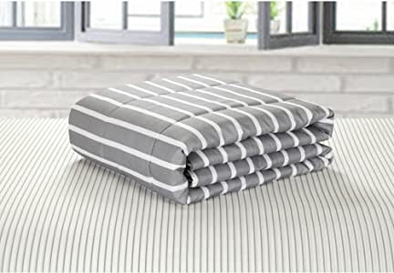 Idea Nouva 灰色和白色条纹床 灰色 全部 784857700954