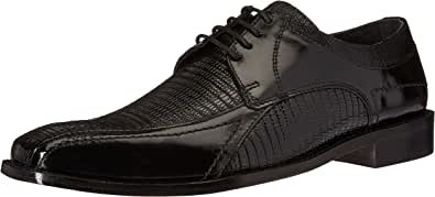 Stacy Adams 男式 Graziano 皮革鞋底自行车趾牛津鞋 黑色 9.5 M US