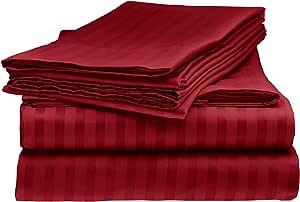 Sarah Ashley 优雅豪华条纹床单套装 *红色 全部 COMIN16JU036295