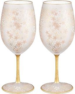 ADERIA 红酒玻璃杯 成对套装 樱花 540ml 日本制造 S-6110