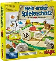 Haba 4278 - Mein erster Spieleschatz 大型HABA游戲合集,共10個 棋盤游戲/速記游戲/紙牌游戲 適于3歲以上兒童,益于兒童的木制游戲材料