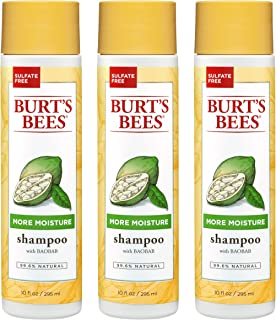 Burt's Bees More Moisture Shampoo, Baobab Scent, 10 Fluid Ounces (Pack of 3)