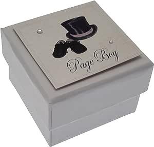 WHITE COTTON CARDS 男款迷你婚礼桌礼盒,带顶帽和鞋子设计