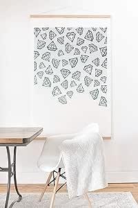 Society6 Barlena 钻石淋浴艺术印刷品和挂钩 灰色 12x12 70778-aandh5