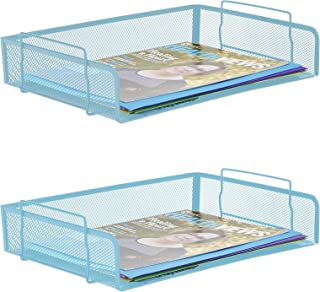Mind Reader DSTACK2-BLK 2 件,侧负荷,可堆放书写字母 Turquoise 2 Piece DSTACK2-TUR