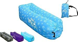 US Lounger 快速充气便携式室外或室内风床躺椅,气袋沙发,空气睡沙发袋,躺卧床,适用于露营、海滩、公园、后院