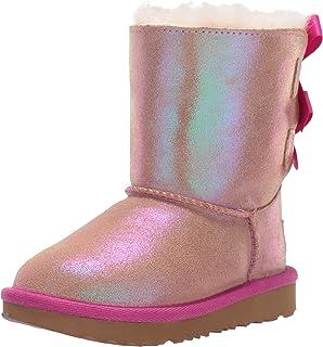 UGG Australia 女童 T Bailey 蝴蝶结 Ii 闪光及踝靴 Multicolour (Chestnut / Fuchsia Cfhs) 8 UK Child