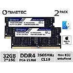 Timetec Hynix IC 兼容苹果 2019 iMac 27 英寸 w/Retina 5K 显示屏,2018 年末 Mac Mini DDR4 2666MHz PC4-21300 CL19 1.2V SODIMM 内存 RAM...