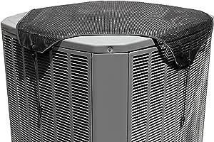 结实的保护层 - 四季分体式空调罩 黑色 36x36 ASBM36