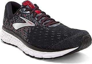 Brooks 男式,Glycerin 17 跑步运动鞋 黑色/红色 7 D