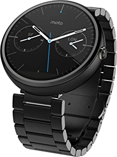 Motorola Moto 360 23毫米智能手表- 黑暗金属(一代)