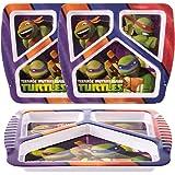 Zak! 3pk 角色塑料 3 分式儿童盘子 Teenage Mutant Ninja Turtles 2