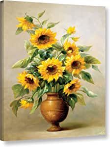 "Tremont Hill Welby ""Sunflower In Bronze I""画廊包边浮雕加框画布,60.96X81.28"