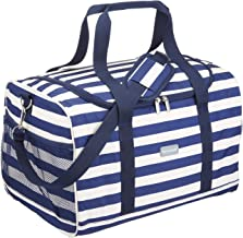 Kitchen Craft We Love 夏天超大號航海條紋家庭酷包,30升(6.5加侖) - 深藍色/白色