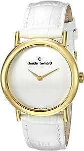 Claude Bernard 女式 21216 37JP A 礼服代码模拟显示瑞士石英白色手表