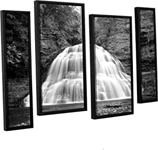 ArtWall Dan Wilson's New York-Treman Falls 4-Piece Floater Framed Canvas Artwork, 24 by 36-Inch