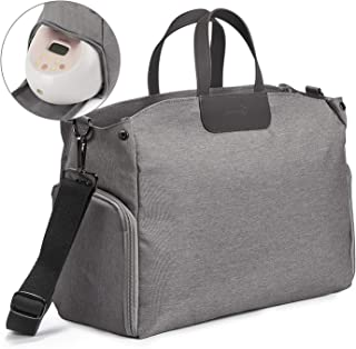 Momcozy 吸奶器和尿布袋,大容量尿布袋,适合旅行携带 – 宽开防水,适合大多数品牌的吸乳器,如 Medela Spectra、Lansinoh、Philips Avent 等。