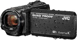 JVC GZ-RX605 FHD 四频防护 10 MP 40x 变焦 Wi-Fi 坚固摄像机 - 亚光黑