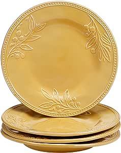 认证国际 25860SET/4 Bianca 餐盘(4 件套),11 英寸,金色