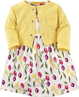 Luvable Friends 女婴连衣裙和开衫套装 郁金香 6-9 Months