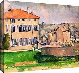 Art Wall 'Jas de Bouffan' Gallery-Wrapped Canvas Artwork by Paul Cezanne, 18 by 24-Inch