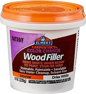 Elmer's Carpenter's Color Change 木質填充物,4 盎司,天然 (E912) 8 盎司 白色