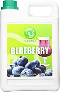 Possmei Flavored Syrup, Blueberry, 5.5 Pound