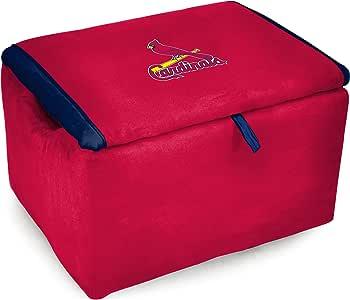 Imperial MLB 圣路易红雀队粉丝*喜欢的超细纤维储物椅,均码,多色