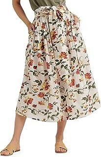 Lucky Brand 女士长款花卉印花纱丽裙