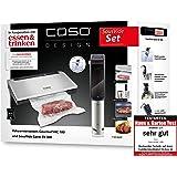CASO SousVide 套装食物和饮料 - 由CASO GourmetVac 180 & CASO Sous Vide Garer SV300,食物可保持真空,Sous Vide Stick 带简单的手柄 - 防水 - 可达 90 摄氏度