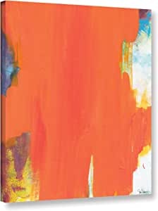 "ArtWall Jan Weiss's Orange Tide Gallery Wrapped Canvas, 14"" x 18"""