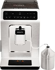Krups 全自动咖啡机 Evidence 一键式卡布奇诺 带触摸屏的 OLED 操作面板 2.1 升 银白色