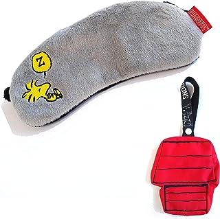 眼罩 卡通人物 可爱 史努比 (被挂在一起!) 携带 方便 狗屋的收纳袋 (つれてって! ウッドストック) - -