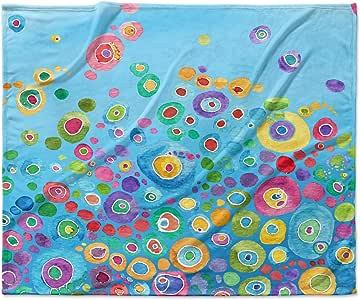 Kess InHouse 凯瑟琳大衣内圈蓝色羊毛毯,152.4 x 127 厘米